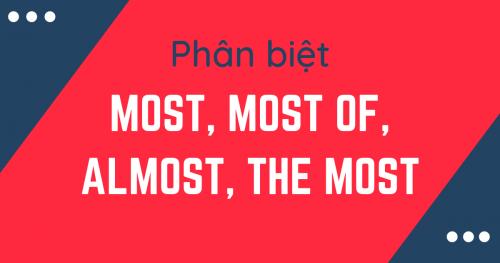 Unit 15: Phân biệt Most, most of, almost, và the most