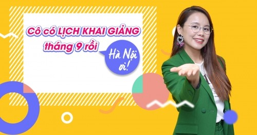 Lịch khai giảng lớp tiếng Anh giao tiếp tháng 9 tại Hà Nội