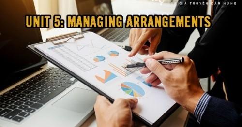 MANAGING ARRANGEMENTS