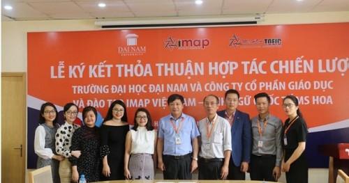[Dân trí] - Đại học Đại Nam ký kết hợp tác chiến lược cùng Anh ngữ Ms Hoa