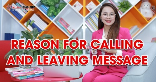 Unit 13: Reason for calling and leaving message