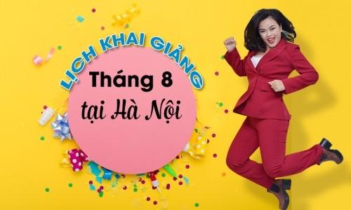Lịch khai giảng lớp tiếng Anh giao tiếp tháng 8 tại Hà Nội