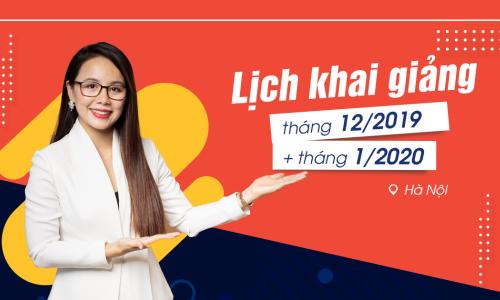 Lịch khai giảng lớp tiếng Anh giao tiếp tháng 12/2019 và tháng 01/2020 tại Hà Nội