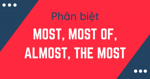 Unit 15: Phân biệt Most, most of, almost, và the most