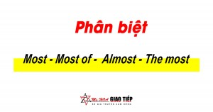 Phân biệt Most, most of, almost, và the most