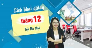 Lịch khai giảng lớp tiếng Anh giao tiếp tháng 12 tại Hà Nội