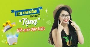 Lịch khai giảng lớp giao tiếp phản xạ tại Hà Nội tháng 07/2018