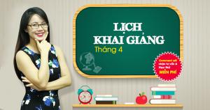 Lịch khai giảng các lớp Giao Tiếp Phản Xạ tháng 4/2017 tại Hà Nội
