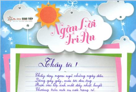 Nguyễn Thị Huyền Trang - S91 - Cảm ơn thầy Sammy Chi duyên dáng- Đã chở đò bắc cầu con qua - Những khi bước mỏi đường xa - Bến xưa thầy vẫn đợi con chở về.