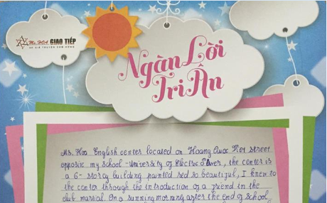 Nguyễn Văn Linh - S92 - I and my two friends to the center to learn the first lesson. where we met Ms Phương and exposed her method is a very sociable and cheerful enthusiasm, and we are well - acquainted with Ms Nhung...