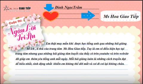 VIDEO tri ân của bạn Đinh Thị Ngọc Trâm_01259265377