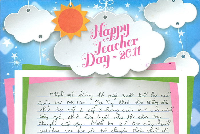 Trần Thanh Thủy - C74 - Qua khóa học các học viên trờ chuyện thân thiết cùng các thầy cô vô cùng đáng yêu đã truyền cảm hứng học tiếng anh cho mình