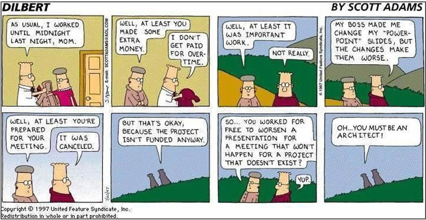 Đoạn đối thoại hài hước về nghề kiến trúc sư