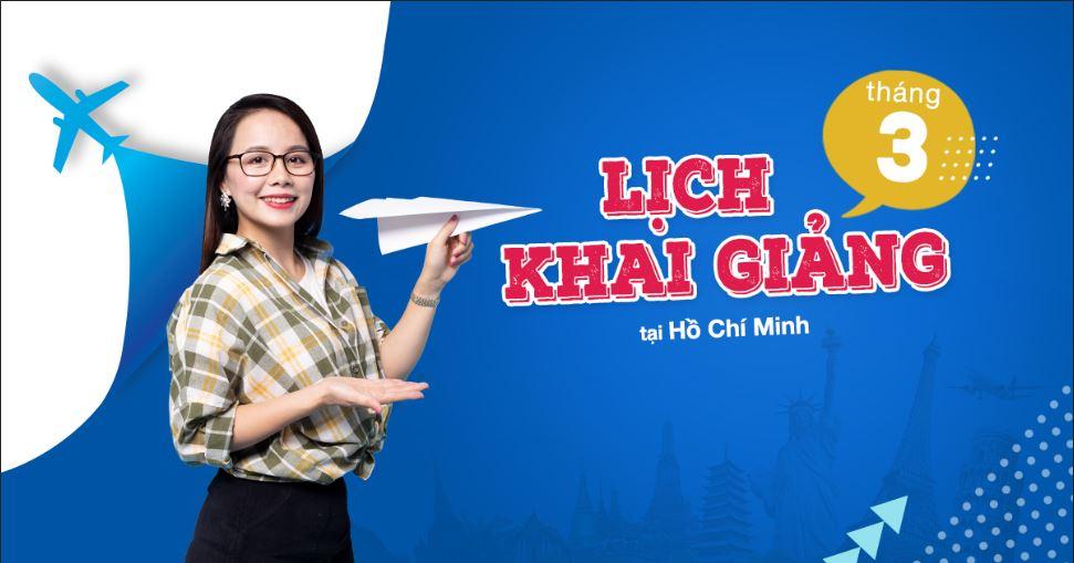 Lịch khai giảng lớp tiếng Anh giao tiếp tháng 3 tại Hồ Chí Minh