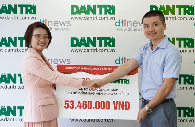 [DANTRI.VN] IMAP Việt Nam tiếp sức đồng bào miền Trung tái thiết cuộc sống sau bão lũ