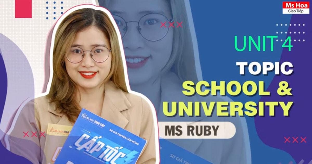 TỪ VỰNG TIẾNG ANH THEO CHỦ ĐỀ - TOPIC 4: SCHOOL & UNIVERSITY