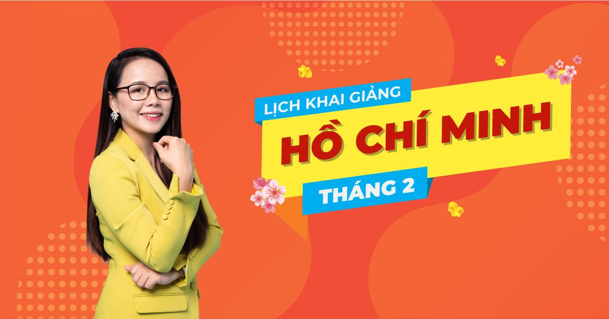 Lịch khai giảng lớp tiếng Anh giao tiếp tháng 2 tại Hồ Chí Minh
