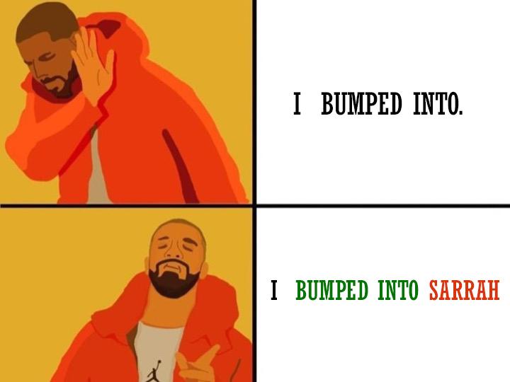 phrasal-verb-bump-into